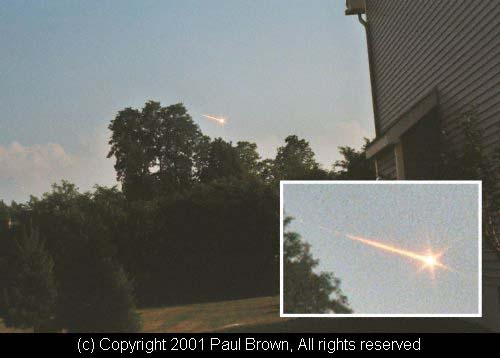 Bolide depuis Rochester (New York) Paul Brown